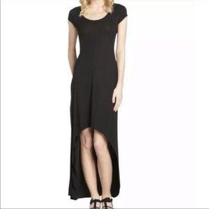 BCBG Donesa Black High Low Maxi Dress Size S